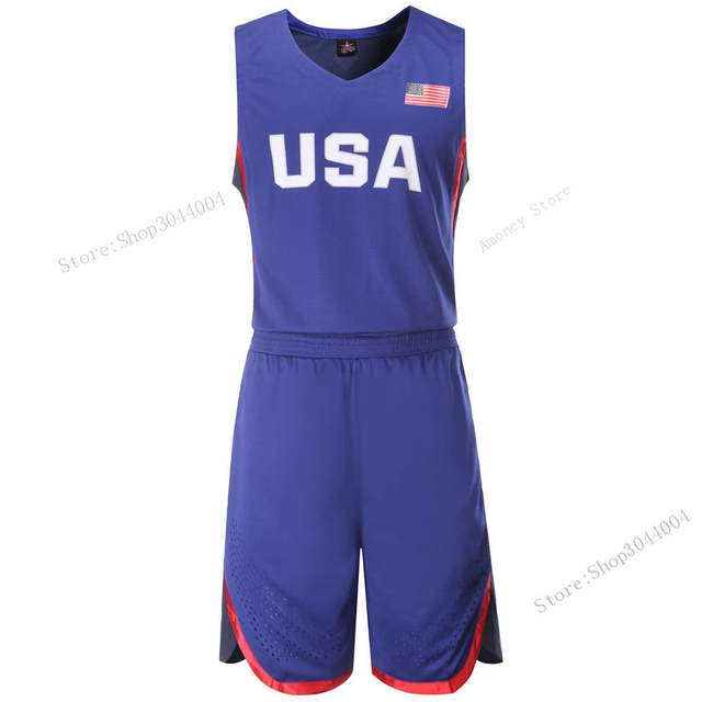 cc7e8c28cec1 placeholder Adsmoney USA China High Quality Men s Basketball Training Suit  Set Throwback College Basketball Jersey Tennis