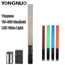 YONGNUO YN360 Handheld LED Video Light Bicolor 3200k 5500k RGB Colorful 39.5CM Ice Stick Professional Photo LED light yn 360(China)