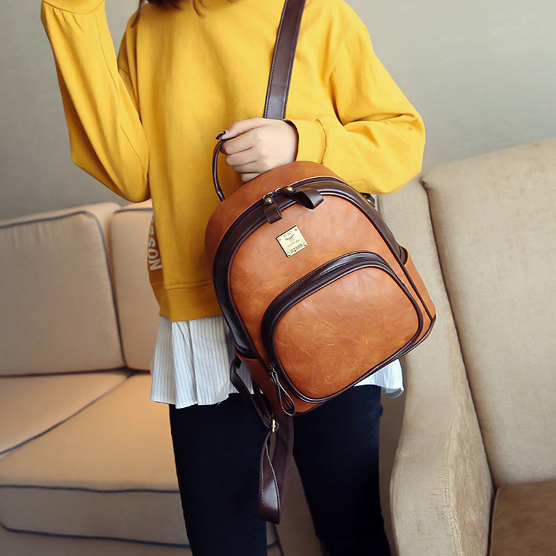 41ed854ce99 Best buy NEW Fashion Designed Brand Backpack Women Retro Leather School Bag  Women Casual Style Backpacks big bags 1v11234 online cheap