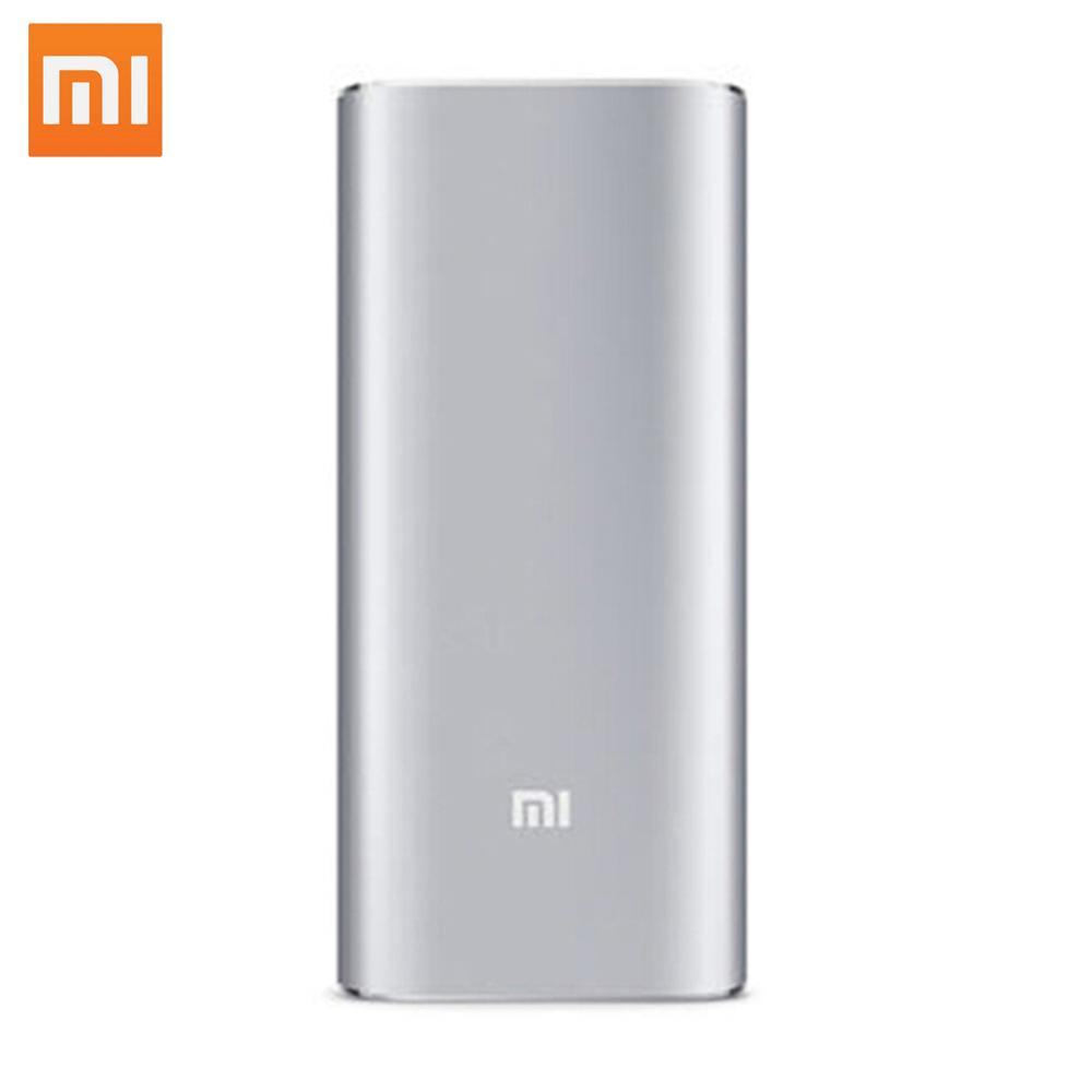 Original Xiaomi Power Bank 16000mAh Portable Li-ion Battery Charger Support Dual USB Mi External Battery Bank for Mobile Phones