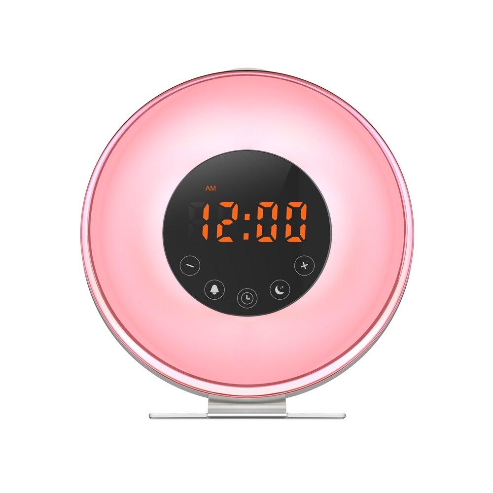 LED lampe de chevet contrôle tactile RGB couleur atmosphère USB chargeur réveil lever du soleil réveil lampe lumière