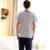 A Estrenar De Punto De Algodón Pijama Sexy ropa de Dormir y Descansar homewear Rayas de Los Hombres Hombres Ropa de Dormir pijamas Causl Camisas moda
