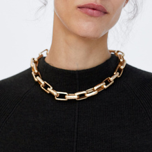 MANILAI Fashion Metal Chain Choker Necklaces For Women New Design Alloy Maxi Bib Statement Collar Necklaces Jewelry