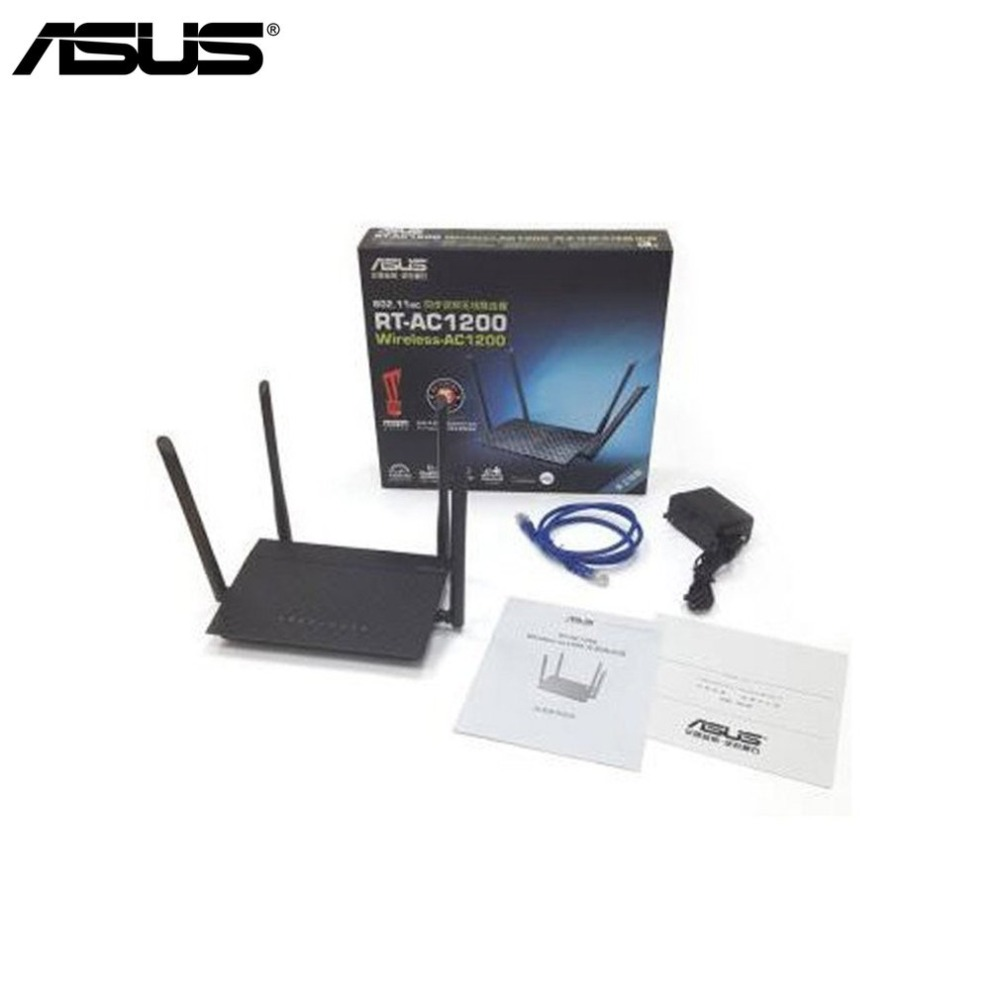 ASUS Original RT-AC1200 Dual-Band Wifi 4-port Gigabit Router 1200Mbps Wifi Router with Four Antenna for Home Use Drop Shipping
