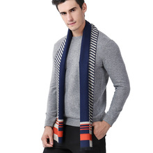 new business and leisure geometry splicing men scarves cashmere scarf