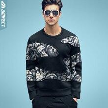 Aimpact Klar Aus Sweatshirt Freiheitsstatue Frühling Herbst 2016 Neue Ankunft männer Outwear Schwergewicht Mode Pullover