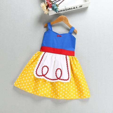 anos o vestido dos miudos meninas rosa amarelo