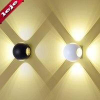 Nordic lâmpada de parede led alumínio ao ar livre interior ip65 para cima baixo branco preto moderno para casa escadas quarto cabeceira luz do banheiro