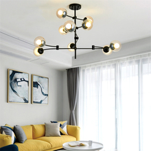 цены на Modern Led Chandelier Magic Bean Glass Pendant Lamp Bedroom Living Room Hotel Lobby Office Cafe Hanglamp Lighting Fixtures Avize  в интернет-магазинах