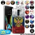 TPU Soft Case For LG K10 K10 LTE K420N K430 K430DS 5.3 телефон капа УФ печатных Назад Case Для LG G5 H850 H830 Крышка из закаленного стекла