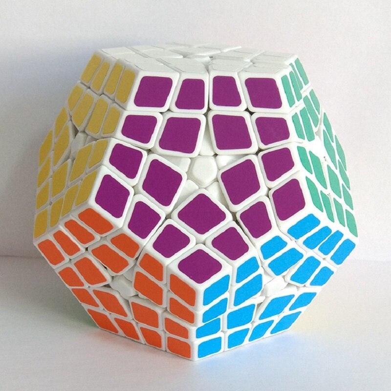 Nouveau Shengshou Master Kilominx Puzzle Cube professionnel 4x4x4 PVC & mat autocollants Cubo Megaminx Puzzle vitesse classique jouets