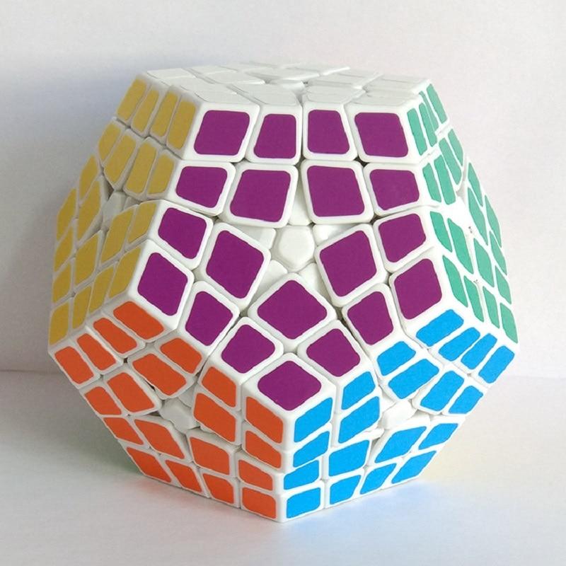 new shengshou mestre kilominx cubo magico profissional 4x4x4 pvc matte stickers cubo megaminx enigma velocidade brinquedos