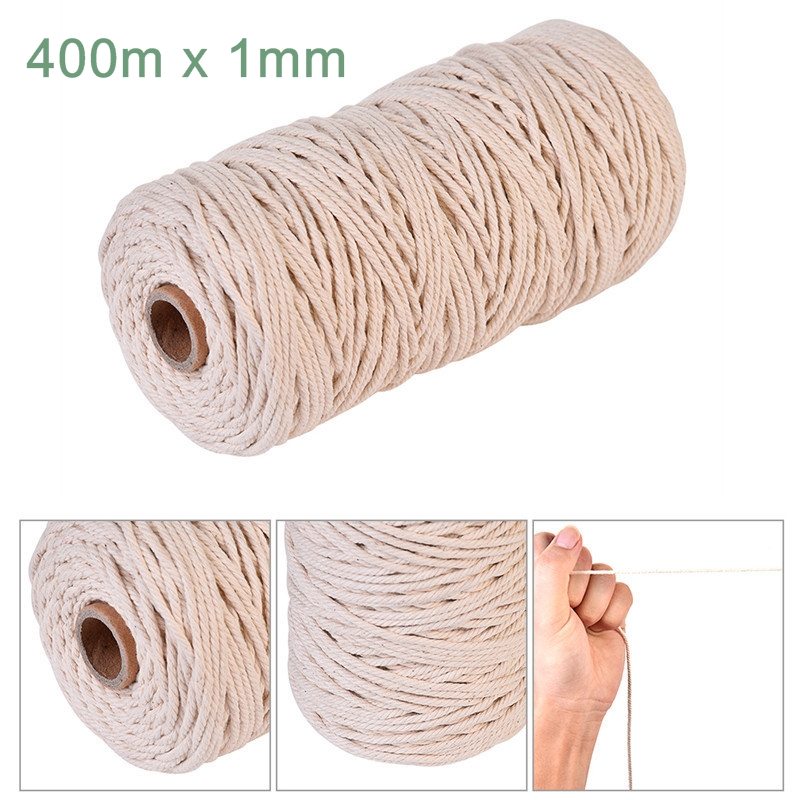 Natural Cotton Macrame Twisted Cord For DIY Home Textile Craft Artisan String
