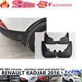 Бесплатная доставка для Renault Kadjar 2016 для укладки пластиковые крыло мягкая крыло защиты брызговики всплеск брызговик 4 шт.