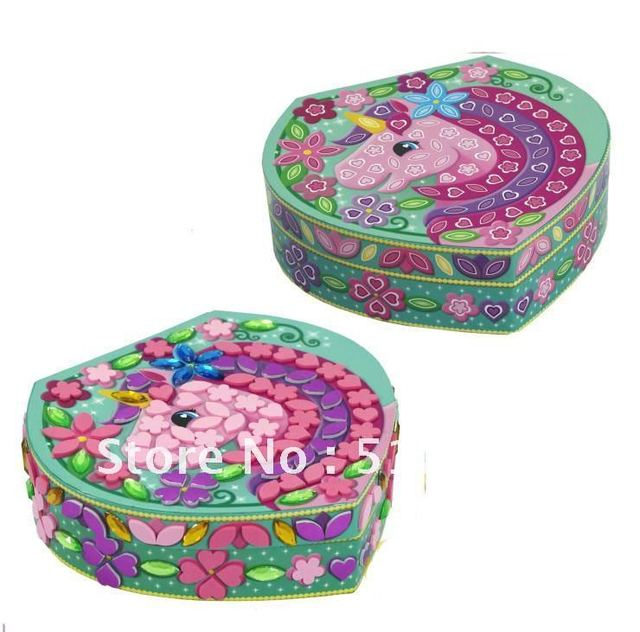 Mosaic Sticker Toy DIY Your own Jewelry box Girl Mosaic Sticky