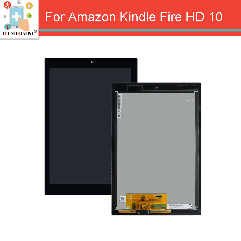 ФОТО For Amazon Kindle Fire HD 10 2015 LCD Display Panel + Touch Screen Digitizer Panel Assembly 10.1