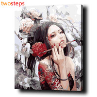 DIY Digital Canvas Oil Painting By Numbers Pictures Coloring By Numbers Modern Acrylic Paint By Number