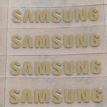 Золотая наклейка на заказ логотип samsung galaxy s3 s4 s5 металлические