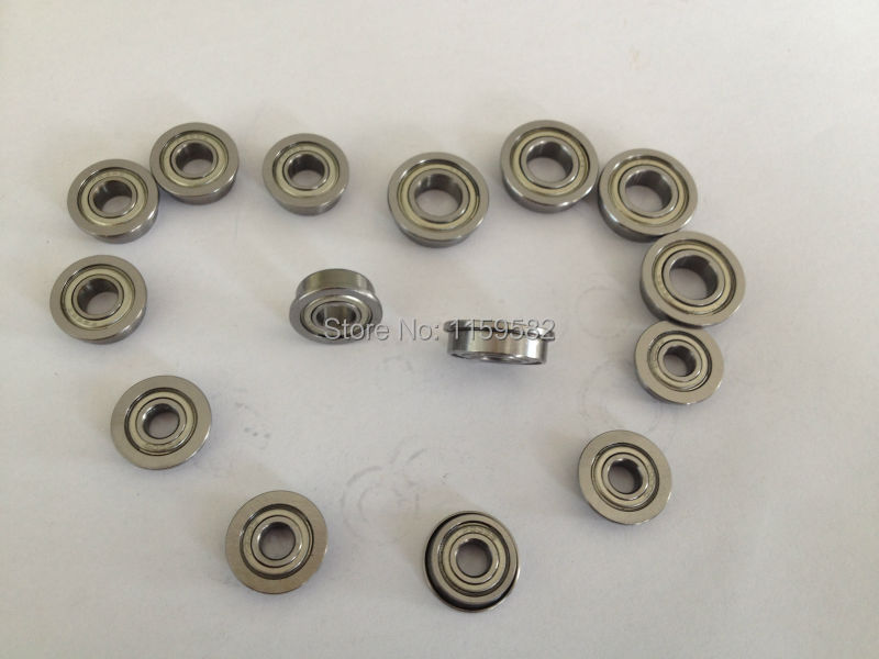 MF83 ZZ MF83-ZZ MF83-2Z MF83ZZ MF83Z MF83 Z 3X8X3MM 3*8*3MM 3*8*3 MMHigh Speed & Low Noisy Flange Ball Bearing  3X8X3 MM