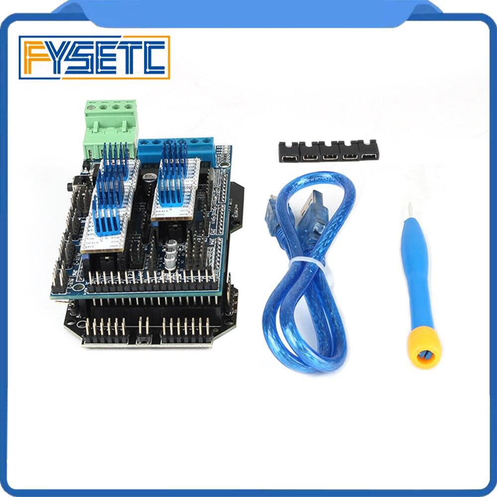 Bilgisayar ve Ofis'ten 3D Yazıcı Parçaları ve Aksesuarları'de YENIDEN ARM 32 Bit kontrol panosu Yükseltme Mega 2560 R3 + Rampaları 1.5 Kontrol Paneli + 5 adet TMC2130 v1.0 step Motor Sürücü
