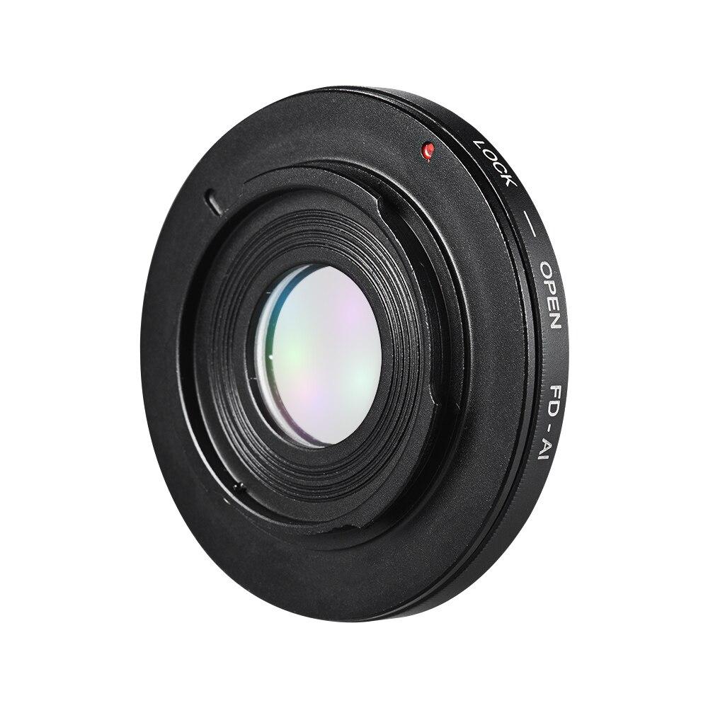 Andoer FD-AI Lens Mount Camera Lens Adapter Ring for Canon FD Mount Lens for Nikon AI F-Mount SLR Camera Body for Macro Shooting