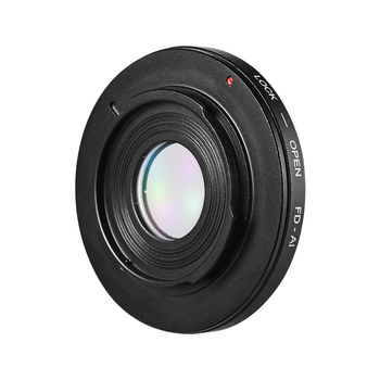 Andoer FD-AI Lens Mount Camera Lens Adapter Ring for Canon FD Mount Lens for Nikon AI F-Mount SLR Camera Body for Macro Shooting