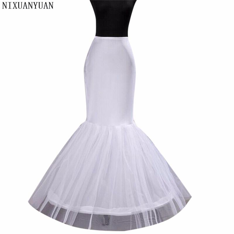 Free Shipping In Stock Wedding Dress Bridal Gown Fishtail Mermaid Wedding Petticoat Underskirt In Stock Bride Use 2020