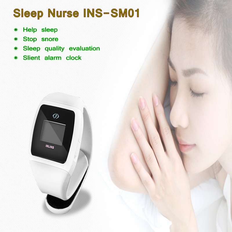 Intelligent Bio feedback  Anti Ronquidos Snore Stopper For Snoring Aids Fast Free Shiping inlins snore stopper wristband anti
