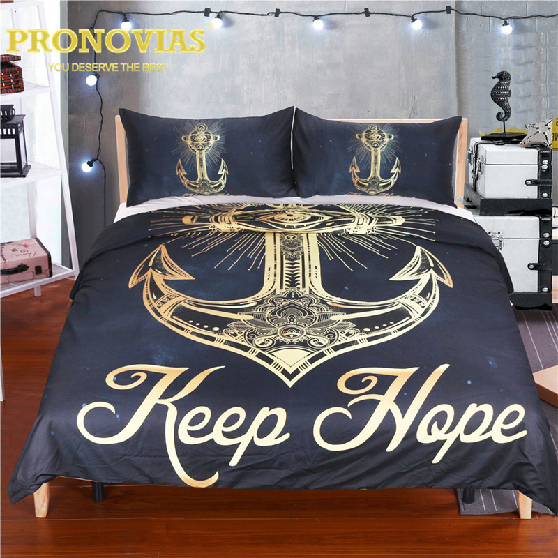 Pronovias anchor hope black golden duvet cover set king queen full twin single bed linen setPronovias anchor hope black golden duvet cover set king queen full twin single bed linen set