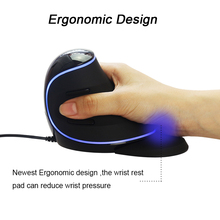 LED Ergonomic Wired Vertical Mouse
