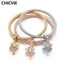 Chicvie 3 шт/компл новые золотые полые очаровательные браслеты