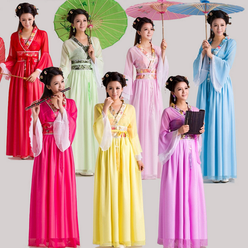 2017 danse Style chinois Costume ming dynastie danse folk vêtements chinois costume