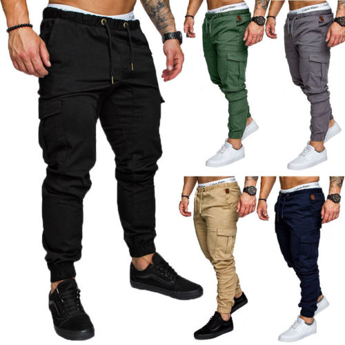 Skinny Pants 2018 New Fashion Hot Popular Mens Slim Fit Urban Straight Leg Trousers Casual Pencil Jogger Cargo Pants