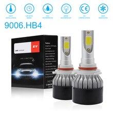 2pcs 9006 HB4 EV9 72W 8000LM 6000K LED Car Headlight Bulbs Kit Automobile Fog Lamp Hi or Lo Light Bulbs for Cars Vehicles