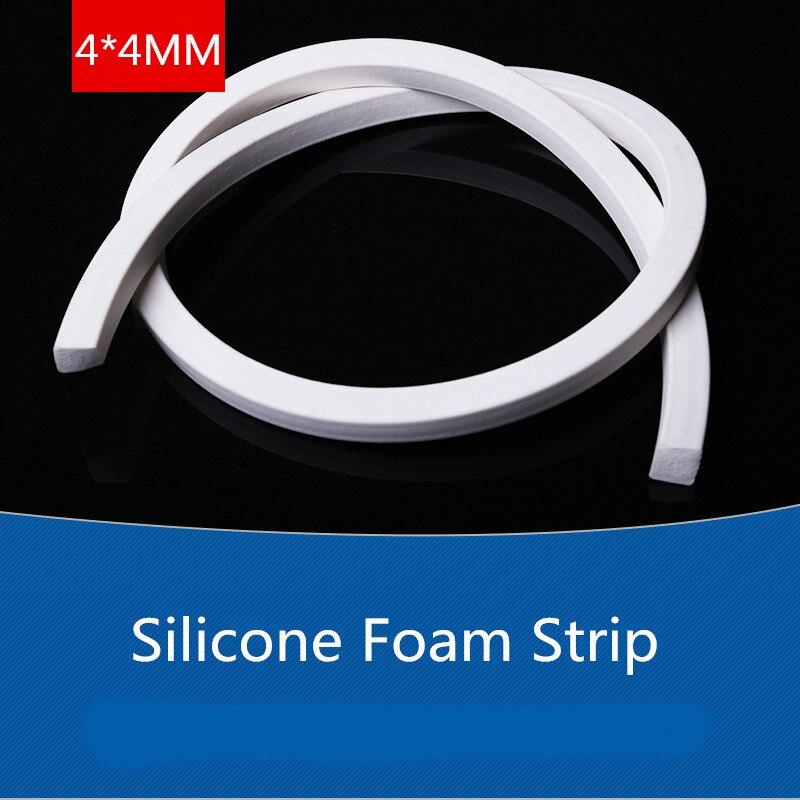5 meters YT1276 Silicone Foam Strip Diameter 4*4MM Sealing Strip Silicone Seal Strip Free Shipping