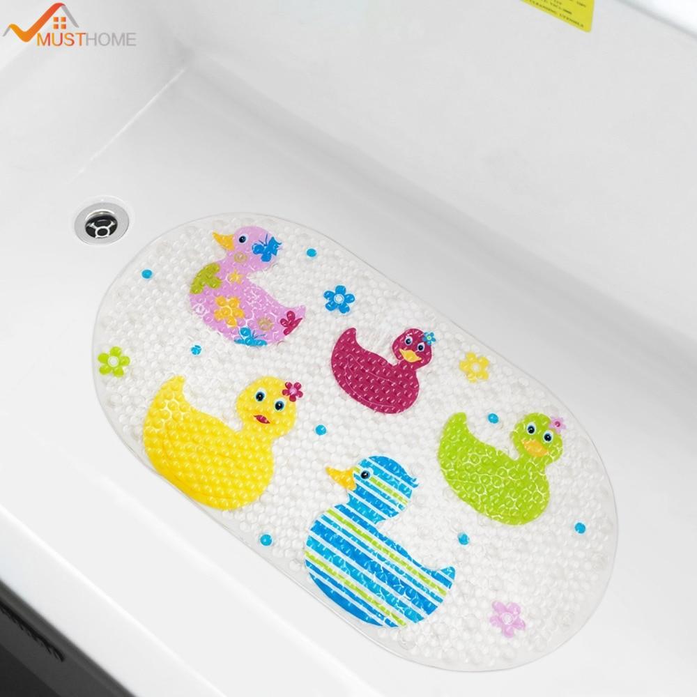 39cmx69cm Baby Bath Mat Anti Slip Pvc Cartoon Bathmats Tub