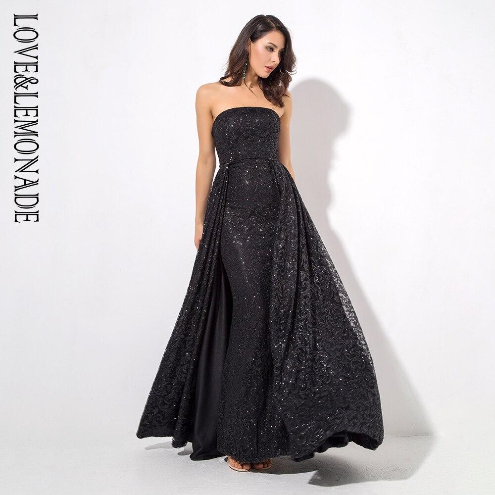 Noir Limonade Sans Robe Longue Lm81216 Mince Amour Et Bretelles Ygyv6bf7