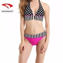 SWIMMARTbikini wave dot print womens split swimsuit swimwear women bikini push up bathing suit swimming bikinis swim