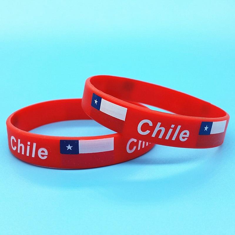 100pcs Chile Flag Rubber...