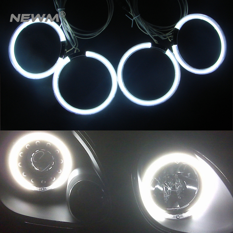 2017 Newest arrival 12V CCFL angel eyes auto headlights drl driving lamps halo ring bulb 4 pcs 105mm rings for Honda CRV 07 free shipping ccfl angel eyes for bmw e90 e90 non projector halo ring e90 ccfl angeleyes lights