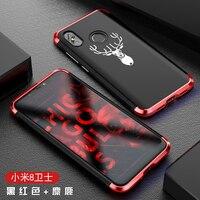 Luxury Metal Phone Bag Case for Xiaomi Mi8 with Designer's Aluminium and PC Case Printing Cover for Xiaomi Mi 8 6.21 Matte Case