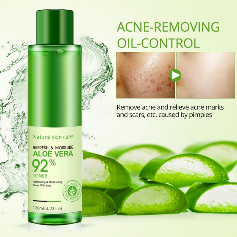 Natural Aloe Vera Gel Toner Plants Essence Skin Care Moist Hydrating Vitamin C Gel Whitening Skin Toner 120ml H8 premium hydra b5 toner 120ml lotion 120ml set