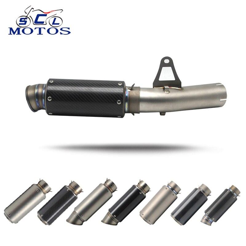 Sclmotos-silencieux d'échappement de moto S1000RR 60mm avec tuyau intermédiaire raccord de tuyau pour BMW S1000RR 2010-2014 Racing