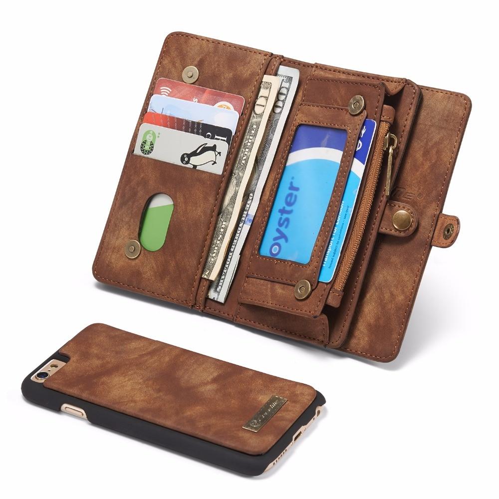 För Apple iPhone 6 6S Fodral Lyxig äkta läderhantverkstelefon - Reservdelar och tillbehör för mobiltelefoner