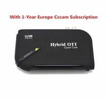 Android DVB-S2 TV Vía Satélite Receptor inteligente iptv caja con 1 Año Cline CCCAM Newcam Youtube 1080 p Set top Box Apoyo Biss Clave