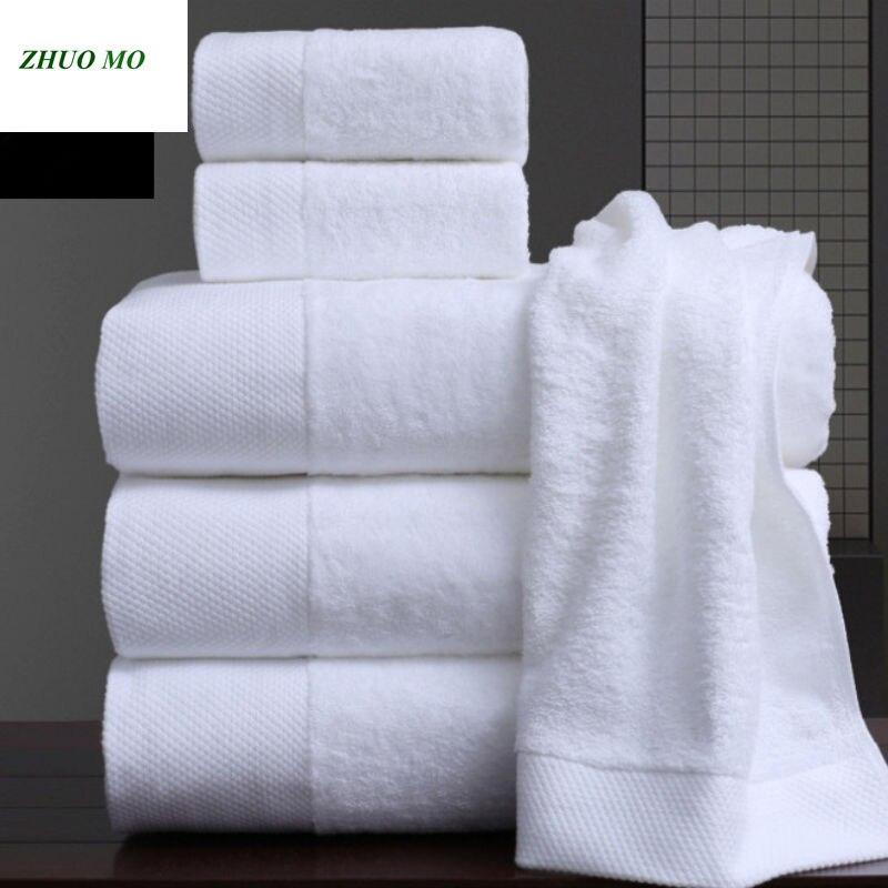 ZHUO MO Pakistan coton serviettes de Bain de luxe pour la maison hôtel Serviette de Bain blanche coton blanc plage éponge serviettes de Bain pour adultes