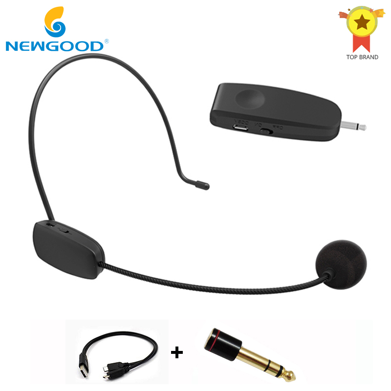 2 4G Wireless Microphone Headset MIC Megaphone Loudspeaker 2 in 1 Handheld Portable for Speach Conference