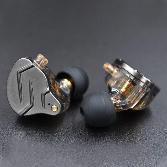 KZ ZSN Pro In Ear Earphones Hybrid technology 1BA+1DD HIFI Bass Metal Earbuds Sport Noise Cancelling Headset Monitor 3