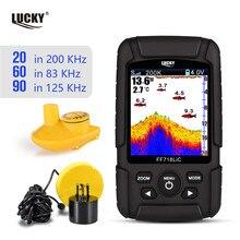 Русский Меню! LUCKY FF718LiCD портативный рыболокатор 200 кГц/83 кГц двойной Sonar частоты 328ft/100 м глубина обнаружения эхо звука