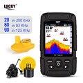 Russische menu! LUCKY FF718LiCD Draagbare Fishfinder 200 KHz/83 KHz Dual Sonar Frequentie 328ft/100m Detectie Diepte echo geluid
